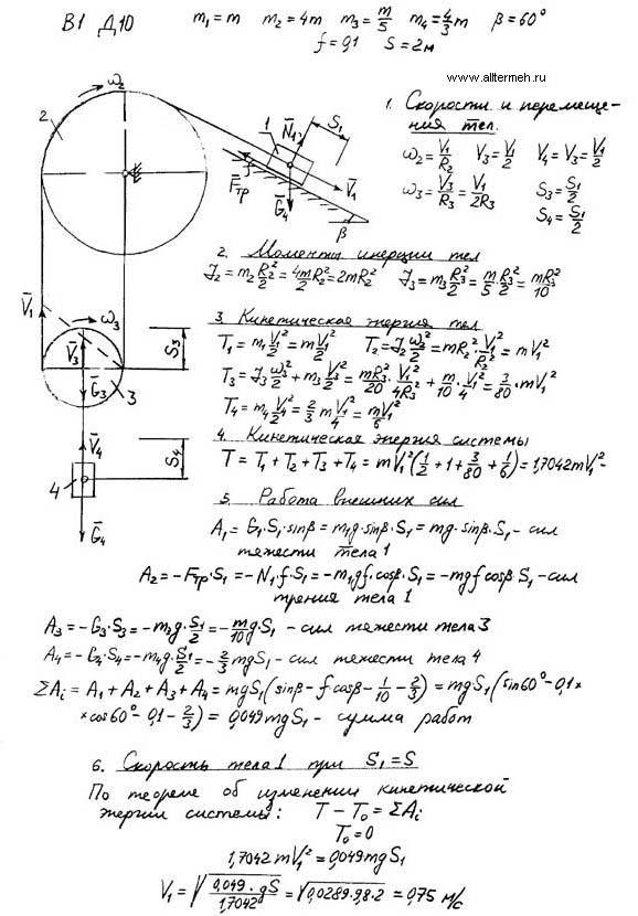Решебник яблонского: кинематика точки к